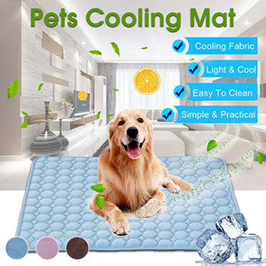 Dog Mat arrefecimento de verão Pad Mat para Blanket Dogs Cat Sofá respirável Dog Pet Bed Verão lavável para Small Medium Large Dogs Car