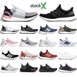 Adidas Les créateurs Ultra boost 19 chaussures de course invaincues pour hommes femmes Cloud blanc noir ultraboost formateur respirant coureur sport baskets
