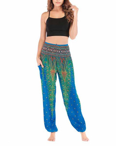 Mixed cotton bloomers plant printing and dyeing Dali Lijiang Yunnan Tourism leisure high waist trousers summer Women's Pants