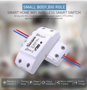 SONOFF Switch Wifi Basic Switch FAI DA TE Remoto wireless 433MHz Domotica Light Smart Home Automation Relay Module Controller controller con Alexa