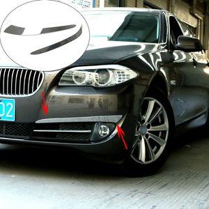 BMW 5 Serisi F10 için Chrome Dış Cephe Sis Işık Lambası Kaş Göz Kapağı Çizgili Kapak Trim Şekillendirme Sticker Fit / GT F07 F18 Aksesuarları
