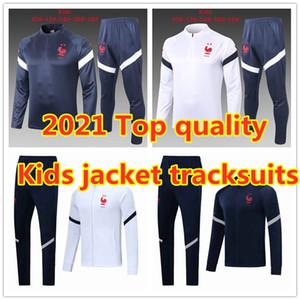 2021 FFF أطفال سترة رياضية MBAPPE الطفل survetement 20 21 Griezmann POGBA الصبي كرة القدم بدلة التدريب سترة