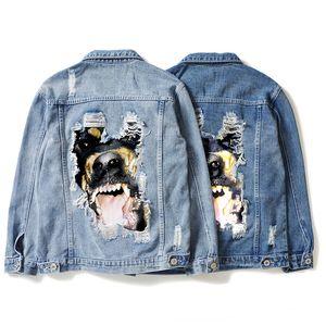 Mens Stylist Jacke Mode-Qualitäts-Stylist Jeansjacke Männer Frauen Jacke Hip Hop Langarm