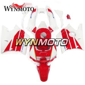 Carenado completo de motocicleta blanco rojo brillante para Honda CBR600F2 Año 1991 1992 1993 1994 CBR600 F2 91 92 93 94 Carrocería de plástico ABS Carenes