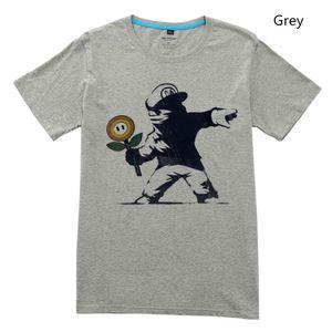 Venda quente Super Mario Men Camisetas Engraçadas Design Digital de Impressão 100% 180gsm Algodão Penteado Casual Top Tees de Manga Curta Personalizado
