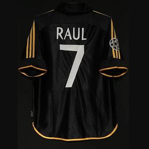 Retro Real Madrid Football Jerseys Zidane Figo Raul Ronaldo Beckham Morientes Owen Carlos Guti Kaka Anelka Seedorf Kits Vintage Chemises