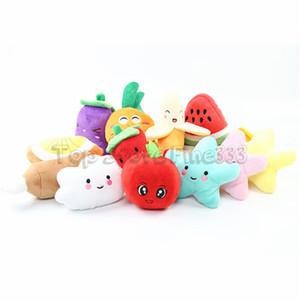 Estrella de la luna del plátano sandía zanahoria juguetes de peluche de verduras y frutas rellenas clásico regalo interactivo suave para mascotas dentición Molar juguetes para niños W152