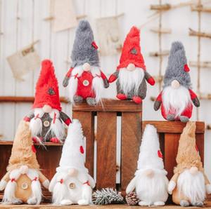 Weihnachten schwedischen Gnome Plüschtier Wald Mann ohne Gesicht Puppe Scandinavian Gnome Nordic Tomte Dwarf Weihnachtsdekoration Ornament Spielzeug GGA2824