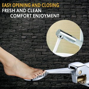 Floor Foot Pedal Control Switch Valve Faucet Copper Basin Single Cold Water Tap Kitchen Faucet Accessories