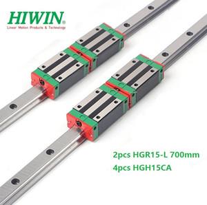 2pcs Nuovo originale HIWIN HGR15 - 700 millimetri lineare guida / guida + 4pcs HGH15CA lineare blocchi strette per cnc router parti