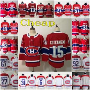 Montreal Canadiens Jersey Hockey 11 Brendan Gallagher 13 Max Domi precio de Carey Alex Galchenyuk Shea Weber Jonathan Drouin Jesperi Kotkaniemi