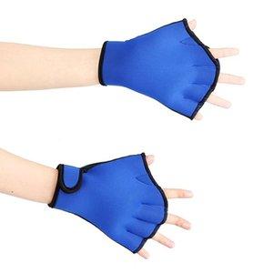 Mounchain Sphere Vernetzter Schwimmhandschuhe Tauchen Finger Flosse Surfen Schwimmen Sport Paddle Trainingsfingerlose Handschuhe