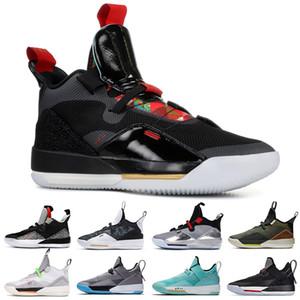 Sapatos de grife 33 Utility Blackout tênis de basquete mens sports shoes Ginásio Vermelho Chicago TECNOLOGIA PACK 33 s PE luxo Athletic sneakers TAMANHO