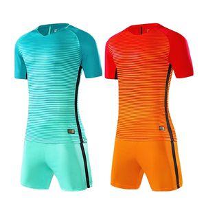 Blank Adult Kids Soccer Jersey Sets survetement Football Kit Men children Futbol Training Uniforms Suits Boys Soccer Tracksuit