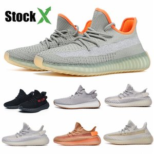 Israfi New 2020 Kanye West Womens Mens Running Shoes Static Desert Sage Cinder Beluga Blue Tint Tail Light Earth Luxury Sneaker Size 13 #QA8