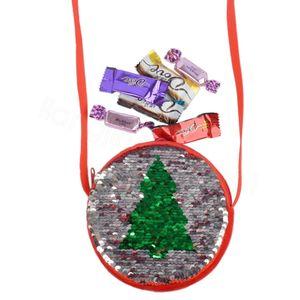 Sacs de Noël Sacs Enfants Sacrins Bandbody Sac Filles Enfants Sac à monnaie Porte-monnaie Mini Xmas Arbre Portefeuille Carte Zipper Sac de rangement Cadeaux FFA3392