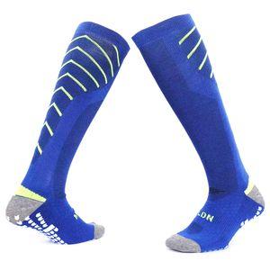 2019 Противоскользящие Футбольные Носки Профессиональные Клубные Футбольные Носки Толстые Колено Высокие Тренировки Длинный Чулок Волейбол Велоспорт носки