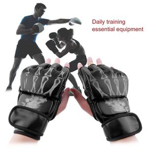 Mma Fight Boxing Finger Finger Gloves Mma Sparring Gloves حارب أكياس الرمل المهنية المصارعة القتال التدريب قبضة حامي التدريب