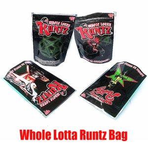 UP di Whole Lotta Runtz Bag Joke! Odore Proof Borse Mylar Stand Up Pouch Packaging Borse 350mg Pacchetto Edibles Zipper per il tabacco secco Herb