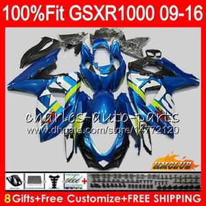 Inyección para SUZUKI GSXR1000 2009 2010 2011 2012 2014 2016 2016 16HC.17 GSXR-1000 fábrica azul K9 GSXR 1000 09 10 11 12 13 15 16 Carenado