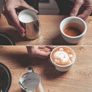 Leche de acero inoxidable Frothing jarra Espresso café Barista artesanía Latte Cappuccino leche crema taza Frothing envío rápido