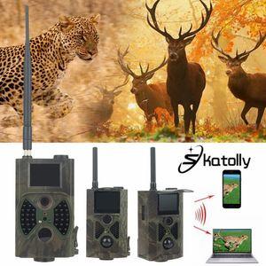 도매 브랜드 1 * HC300M HD 사냥 트레일 카메라 스카우트 적외선 비디오 GPRS GSM 12MP Dropshipping를 사냥 캠 + 무료 배송!