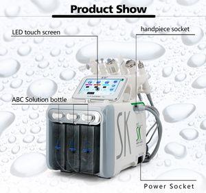 2019 الفنية 6 في 1microcurrent آلة جلد الوجه الغسيل بالموجات فوق الصوتية حقن الأكسجين آلة رش الأكسجين الجمال