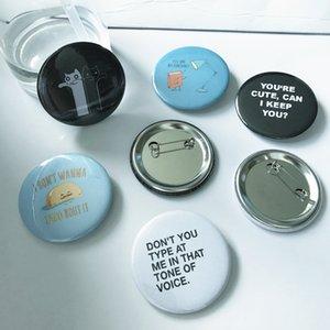 Suprimentos emblema do botão Hot Vendas 25mm Tin Material de 500pcs Com Seguro Pin outra parte do evento