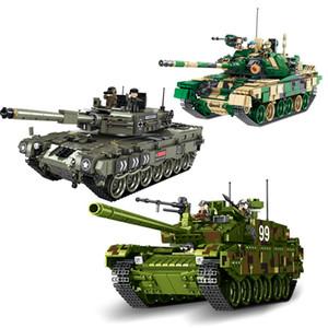 edificio modelo del tanque de puzzle de bloques militares montaje de infantería juguete carro