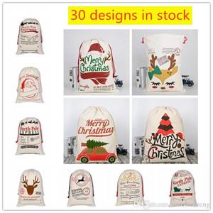 30 Designs Sacs cadeaux de Noël Sac Père Noël Sac Sac à cordonnet avec Reindeers grande taille enfants Candy Bag Décorations de Noël