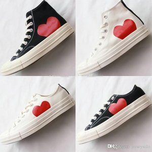 Play All Star shoe CDGs 1970s Chuck 70 Hi Canvas Jointly Big With Eyes Heart Beige Black designer casual Skateboard Sneakers 35-44