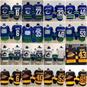 Vancouver Canucks 40 Elias Pettersson 6 Brock Boeser 53 Bo Horvat 33 Henrik Sedin 10 Pavel Bure 89 Alexander Mogilny 43 Quinn Hughes Jerseys