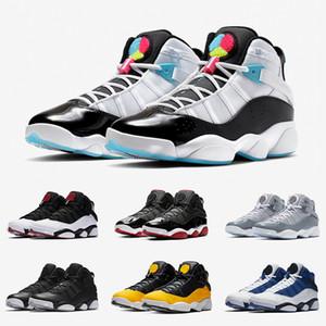 Hot vente 6 6s Six Anneaux Hommes Chaussures de basket Concord gris clair Bred bleu vert Gym Space Jam Man femmes baskets de sport authentiques