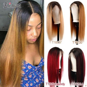 Ombre Lace Wigs Glueless Frontal Wigs Color Frontal Wig Human Hairs Pre Plucked Lace Front Human Hair Brazilian Remy Hair