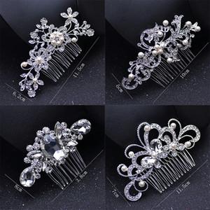 İnci Gelin Düğün Tiaras Klasik Kristal Gelin Takı Moda Gelin Saç Combs Sevimli Lady Parti Saç Aksesuarları TTA968-64