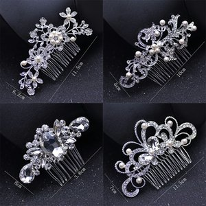 Jóias de pérolas casamento nupcial Tiaras clássico de cristal de noiva moda noiva Cabelo Combs Senhora bonito do partido Acessórios de cabelo TTA968-64