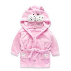 Berymond New Children's Robe Cartoon Animal Shape Boy Girl's Bathrobe Baby Pajamas Home Clothes Kids Clohting Sleepwear& Robes