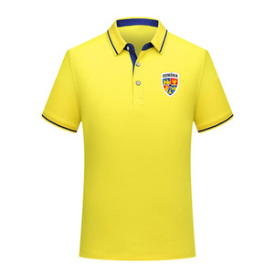 2020 Roumanie équipe nationale de football Polo manches courtes formation Mode Sport Polos Football Soccer T-shirt Jersey Hommes Polos