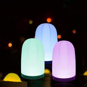 LED Quarto Decoração Luzes Da Noite Da Lâmpada USB Sala de Carregamento Decorar Atmosfera Cabeça Da Cama Night Light Presente Da Moda 6zsD1