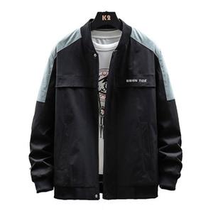 Erkekler Tasarımcı ceketler İyi Kalite Mix Renkler Patchwork Işık ve İnce Harf Handsome Boy Öğrenci Spor Giyimi yazdır