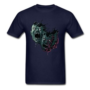 Chaotic Catharsis Tops Men T Shirt Latest Mens Tshirts Crazy Art Design Tees Blue Clothes Halloween Zombie T-shirt Drop Shipping
