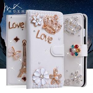 Jeweled Case Pour Sony Xperia XZ Premium G8141 XZ1 Compact Classique Diamant Couverture En Cuir Portefeuille Fundas Fentes Pour Carte Flip Cas