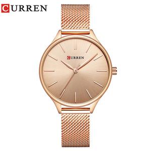 CURREN 9024 moda casual orologio da polso al quarzo impermeabile cinturino in maglia fine orologio da donna temperamento femminile