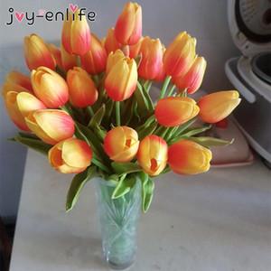 Сад тюльпаны Искусственных цветов Real сенсорного kunstmatig пакет versieren Tulp Букет для дома Свадебных украшений Поддельного цветка