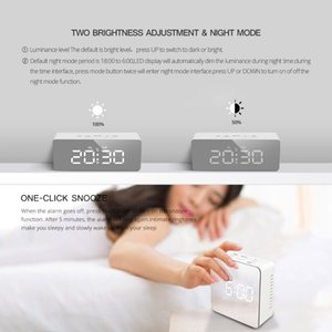 LED Desk Clock For Home Office Decoration Night Display Digital Table Clock Lighted Makeup Mirror LED Office Clock Watch Klokje