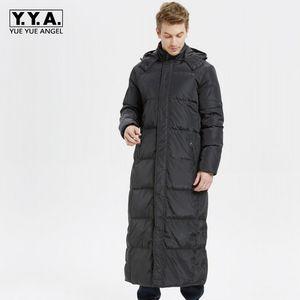 2020 Nuovo Inverno Mens spessore caldo Parkas Moda Solid Capispalla con cappuccio maschile Business Casual lungo piumino più il formato S-5XL Coat