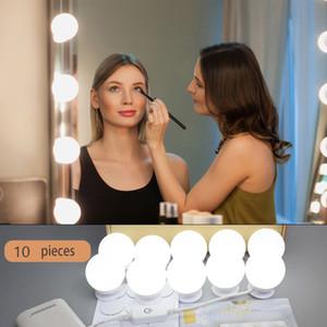 Fashion  Mirror Vanity LED Light Bulbs Kit Bulb Adjustable Brightness lights USB Charging Port for festival best gift