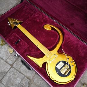 New Prince Amour Symbole modèle guitare or Floyd Rose Big Tremolo Gold Bridge coutume matériel fait Résumé Symbole Goldtop Guitare
