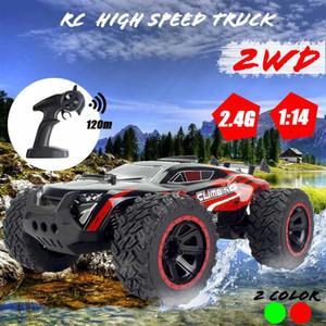 01.14 70Km / h 2WD RC Fernbedienung Off Road Racing Autos Fahrzeug 2.4Ghz Crawlers Elektro-Monster RC Car Y200413