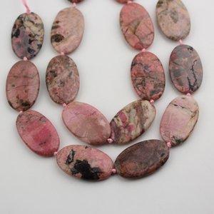 30x50mm, овальной формы Родонит Агаты бусины ювелирные изделия, средний пробурено гладкие камни свободные бусины ожерелье